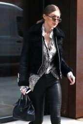 Gigi Hadid - Leaving Her Apartment in New York City 2/1/ 2017