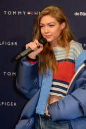 Gigi Hadid - Promotes Collection in Amsterdam 2/17/ 2017