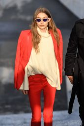 Gigi Hadid Style and Fashion Inspirations - Out in Milan 2/24/ 2017