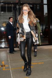 Gigi Hadid Style - Leaving Her Apartment in NYC 2/12/ 2017