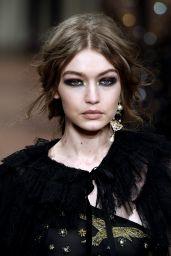 Gigi Hadid Supermodel Runway Walk at Milan Fashion Week - Alberta Ferretti Show 2/22/ 2017