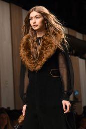 Gigi Hadid Supermodel Runway Walk at Milan Fashion Week - Fendi Show 2/23/ 2017