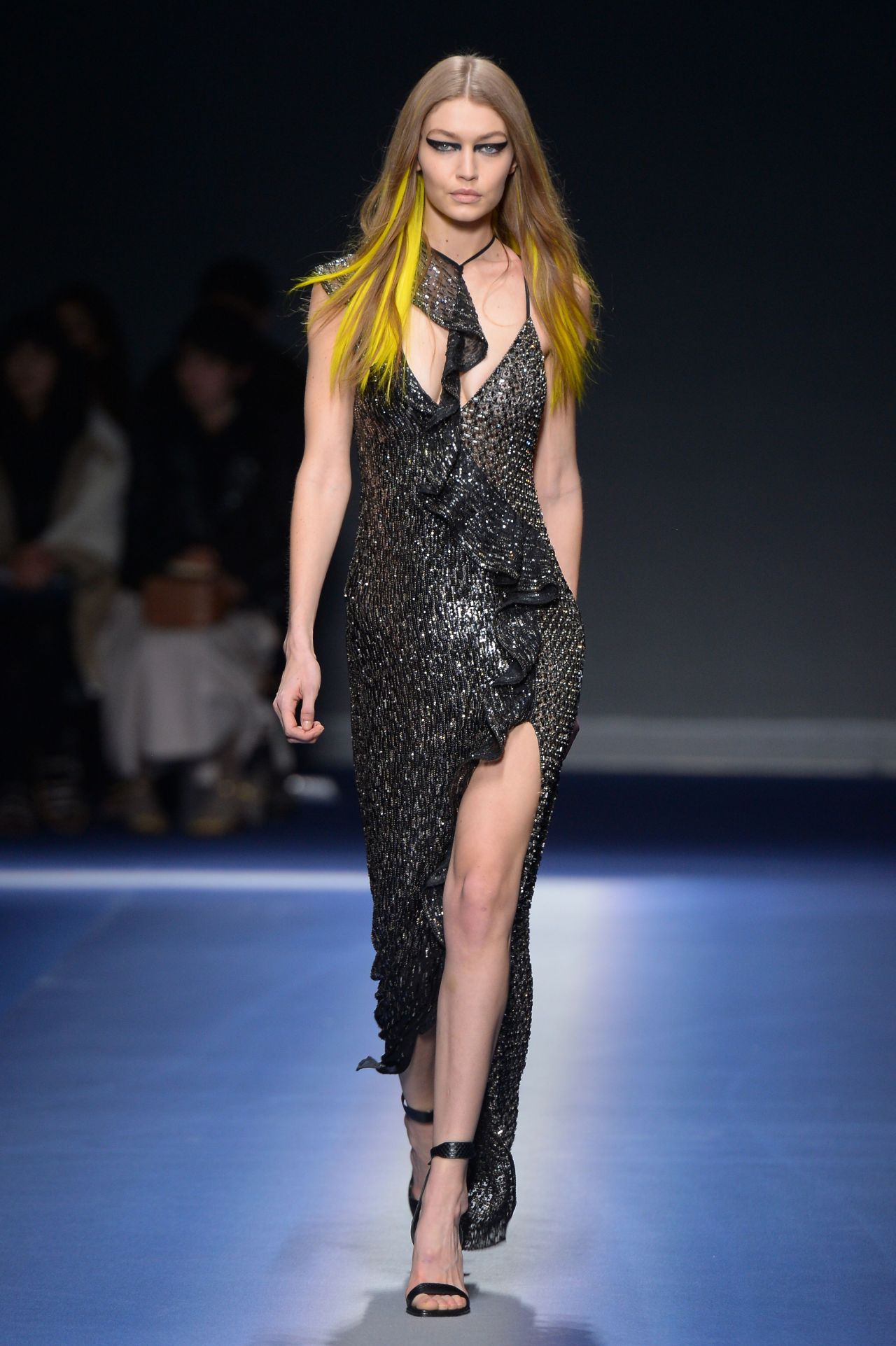 Gigi Hadid Supermodel Walks The Runway At The Versace Show