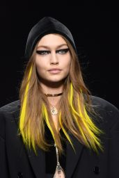 Gigi Hadid Supermodel Walks the Runway at the Versace Show at Milan Fashion Week 2/24/ 2017