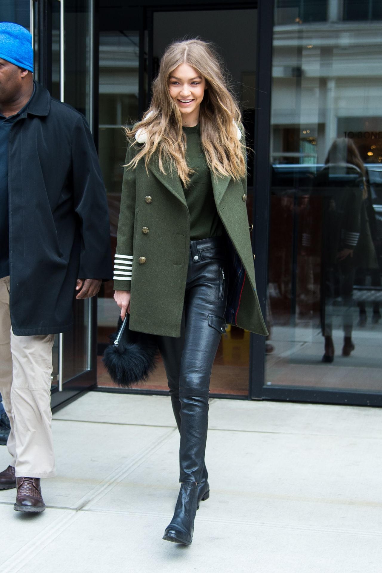 Gigi Hadid Urban Outfit Leaving Her Apartment In New