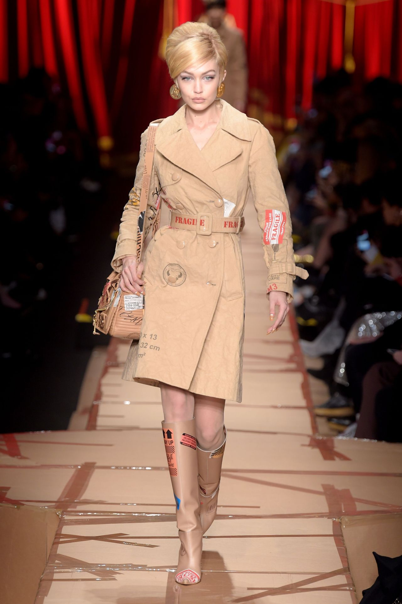 Gigi hadid walks moschino 39 s show milan fashion week 2 23 for Gigi hadid fashion week