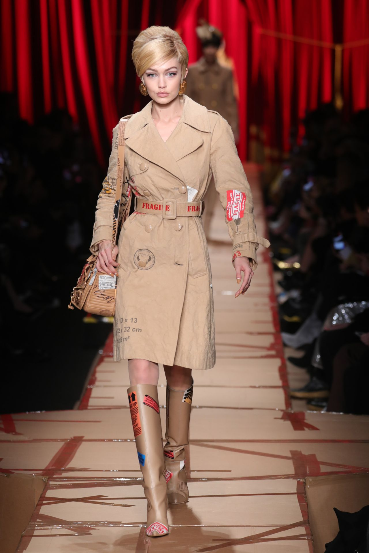 Gigi Hadid Walks Moschino's Show