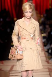 Gigi Hadid Walks Moschino