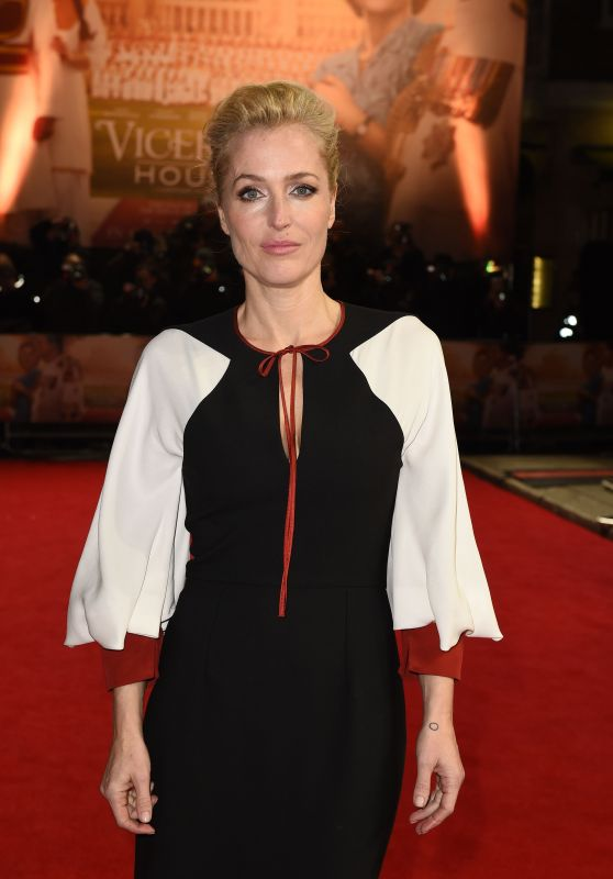 Gillian Anderson – 'Viceroy's House' Premiere in London 2/21/ 2017