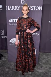 Ginta Lapina at amfAR New York Gala Red Carpet, 2/8/ 2017
