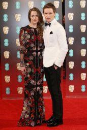 Hannah Bagshawe on Red Carpet at BAFTA Awards in London, UK 2/12/ 2017