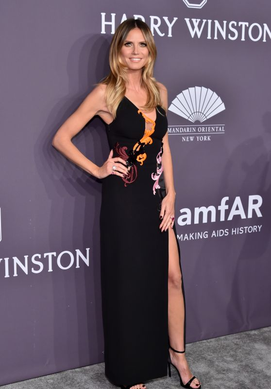 Heidi Klum – amfAR New York Gala in NYC 2/8/ 2017