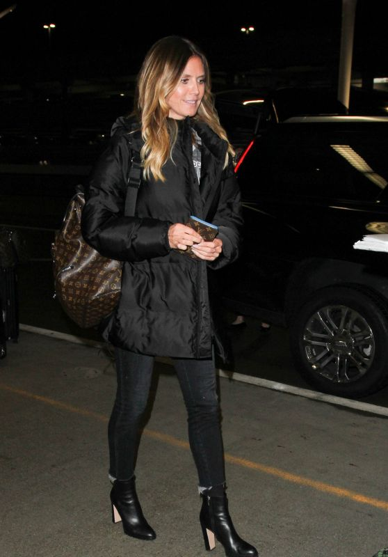 Heidi Klum at LAX in Los Angeles 2/6/ 2017