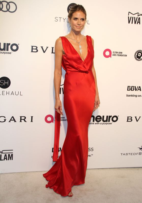 Heidi Klum – Elton John AIDS Foundation's Academy Awards 2017 Viewing Party in West Hollywood