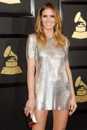 Heidi Klum on Red Carpet – GRAMMY Awards in Los Angeles 2/12/ 2017