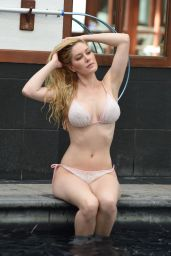 Heidi Montag in Bikini Enjoys a Pool Day at Her Hotel in London 2/6/ 2017