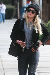 Hilary Duff at the Gym in Studio City 2/7/ 2017