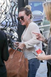 Hilary Duff - Grabbing a Coffee Before Going to the Salon in West Hollywood 2/22/ 2017