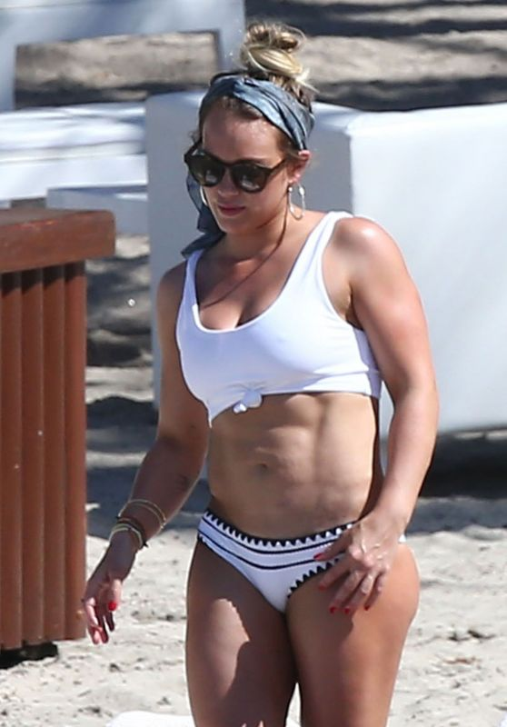 Hilary Duff in Bikini at a Beach in Costa Rica 02/15/ 2017