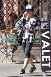 Hilary Duff in Leggings - Leaving il Tramezzino in Studio City 1/30/ 2017