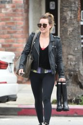 Hilary Duff in Spandex - Leaviyng a Gym in Los Angeles 2/21/ 2017