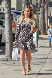 Hilary Duff Looks Feminine and Glamorous at Joan