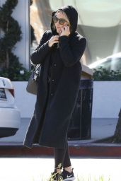 Hilary Duff Talking on the Phone - Out in LA 2/23/ 2017
