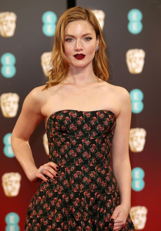 Holliday Grainger on Red Carpet at BAFTA Awards in London, UK 2/12/ 2017