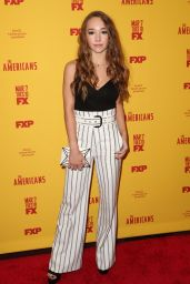 Holly Taylor – 'The Americans' Season 5 Premiere in NYC 2/25/ 2017