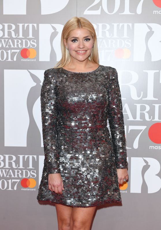 Holly Willoughby - The Brit Awards at O2 Arena in London 2/22/ 2017