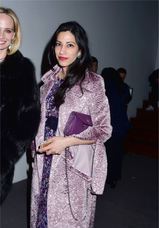 Huma Abedin Arrives at Prabal Gurung Fashion Show in New York 2/12/ 2017