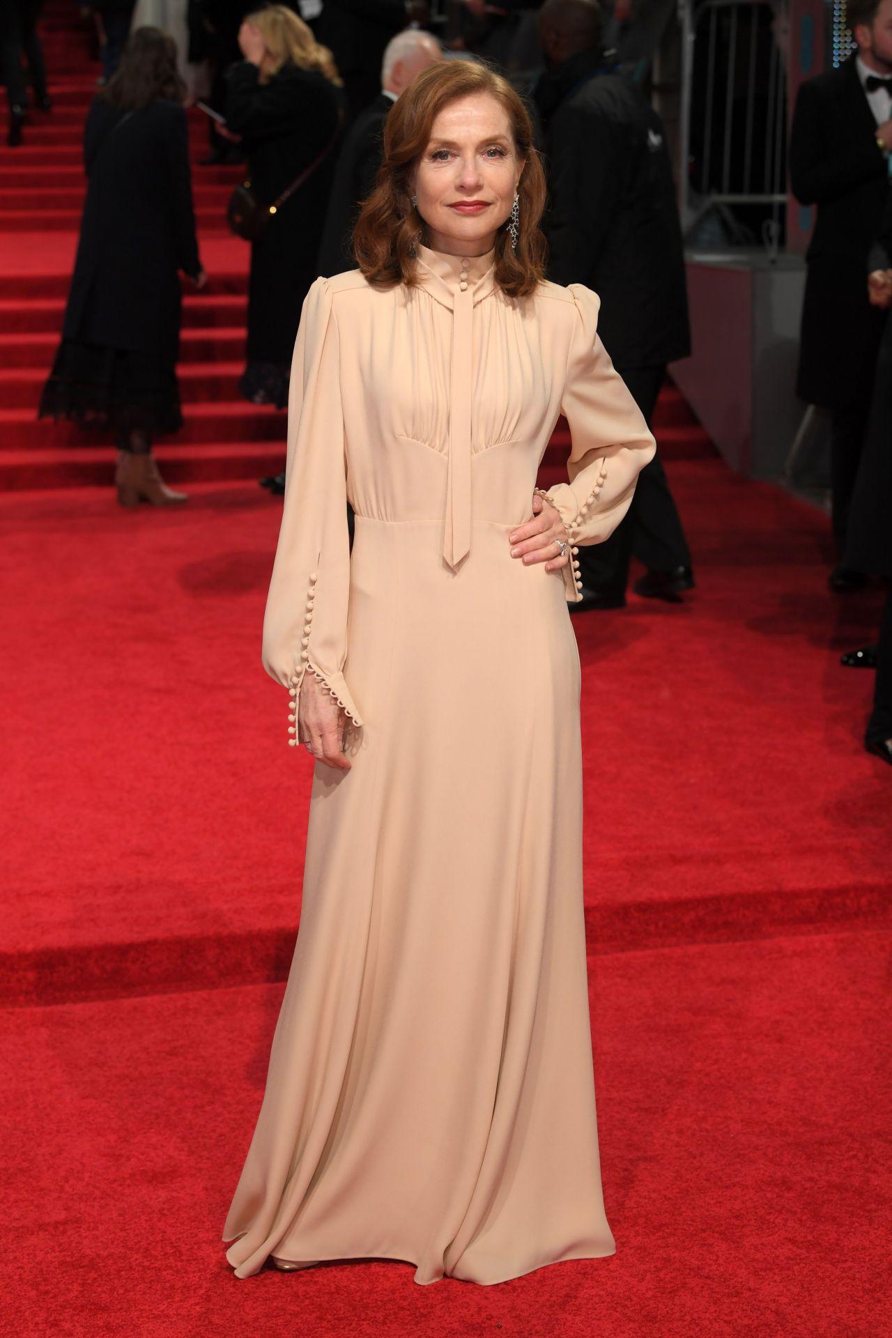 Isabelle Huppert at BAFTA Awards in London, UK 2/12/ 2017