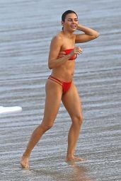 Jenna Dewan in Red Bikini - Beach Fun in Hawaii, February 2017