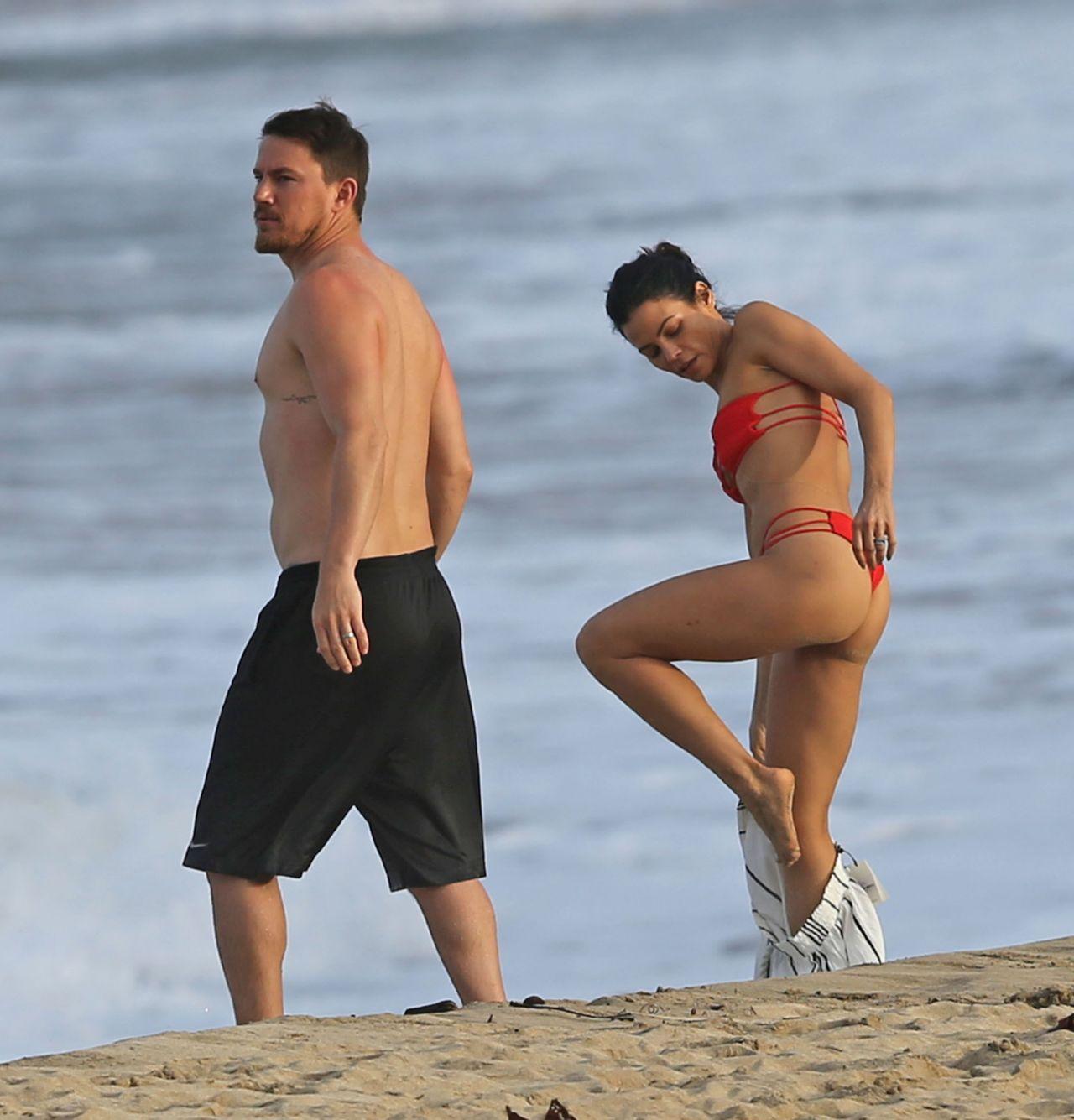 Jenna Dewan in Red Bikini - Beach Fun in Hawaii, February 2017 ченнинг татум 2019