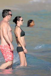 Jennifer Connelly in Bikini at a Beach in St Barts 2/17/ 2017