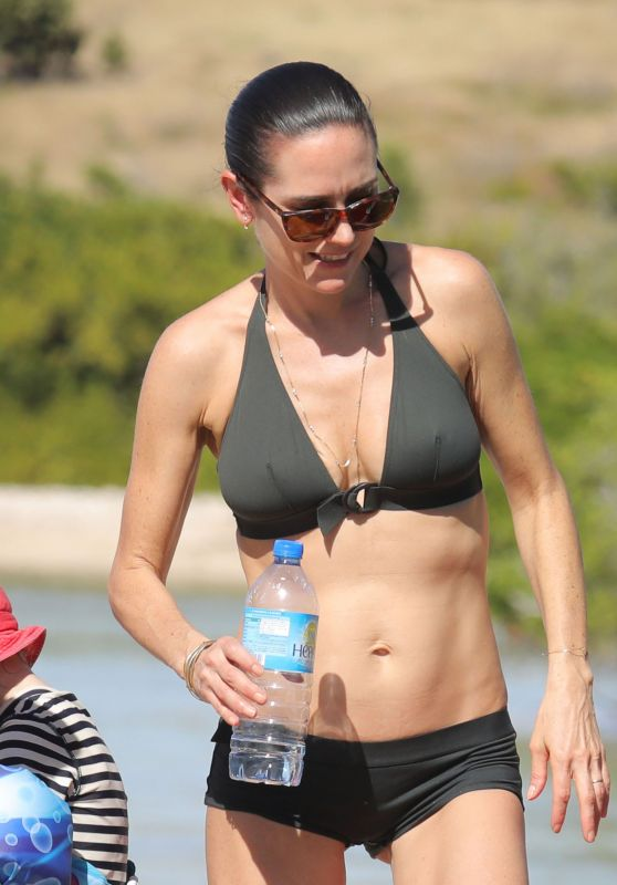 Jennifer Connelly in Bikini at a Beach in St Barts 2/17/ 2017