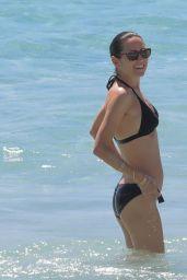 Jennifer Connelly in Black Bikini at a Beach in St Barts 2/19/ 2017
