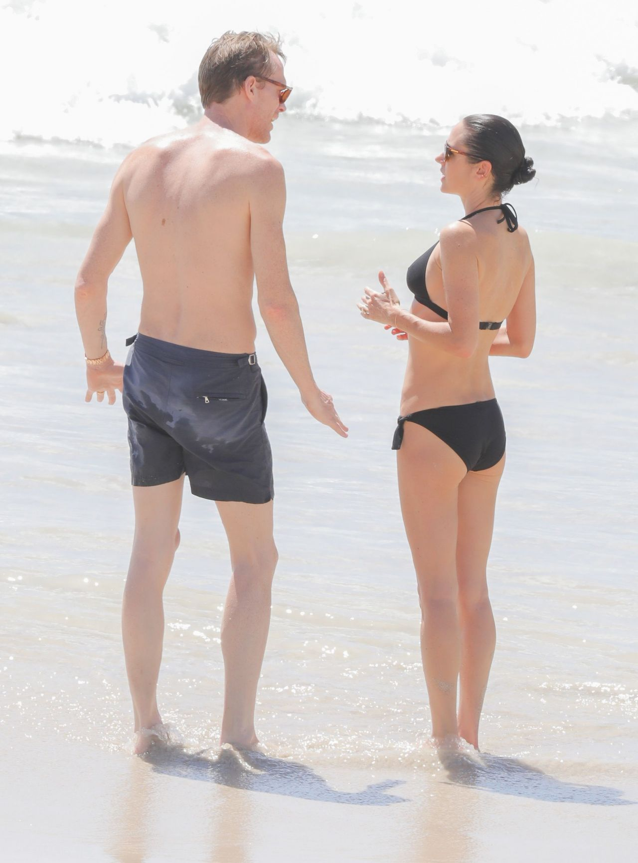 jennifer connelly in black bikini at a beach in st barts 2  19   2017