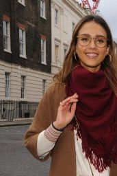 Jessica Alba Street Style - Out in London 2/22/ 2017