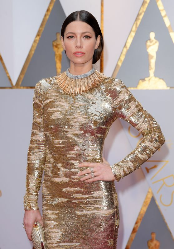 Jessica Biel – Oscars 2017 Red Carpet in Hollywood