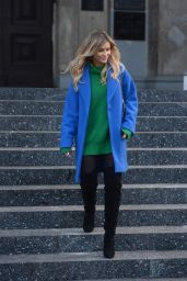 Joanna Krupa - Visiting a Church in Warsaw 2/1/ 2017