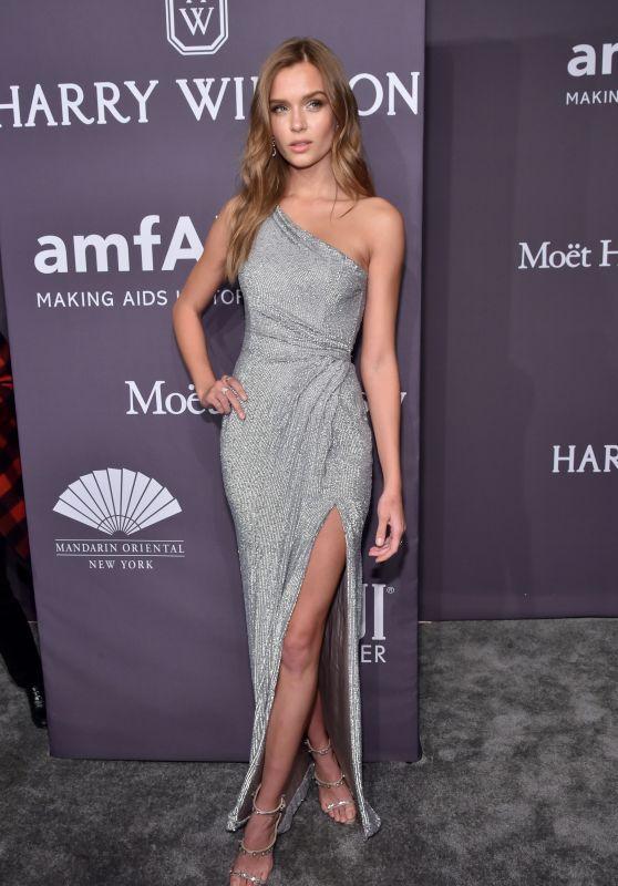 Josephine Skriver at amfAR New York Gala Red Carpet, 2/8/ 2017