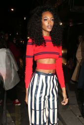 Jourdan Dunn at Love Me 17 X Burberry Party at Annabel's, Berkeley Square in London 2/20/ 2017