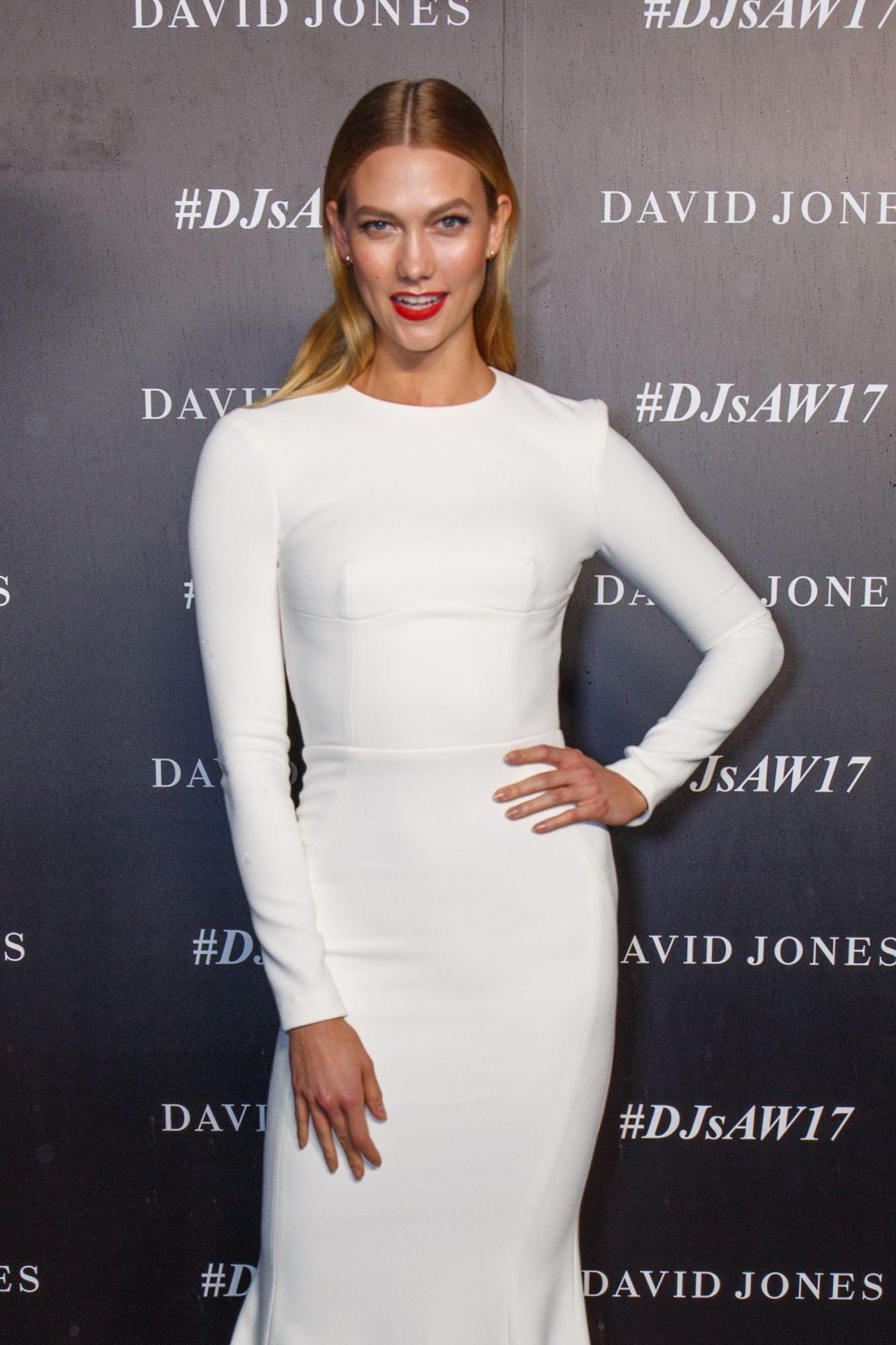 White dress david jones - Karlie Kloss David Jones Autumn Winter 2017 Collections Launch In Sydney 2 1 2017