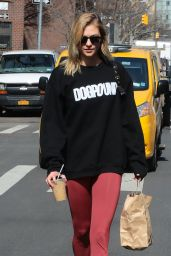 Karlie Kloss in Leggings - Out in New York 2/28/ 2017