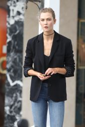 Karlie Kloss Street Style - St. Barts 2/13/ 2017