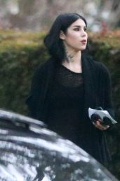 Kat Von D - Sporting Her Signature All-Black Look as She Headed to a Friend