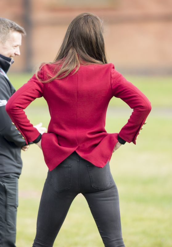 Kate Middleton in Tights - Visits RAF Cadets in Stamford 2/14/ 2017