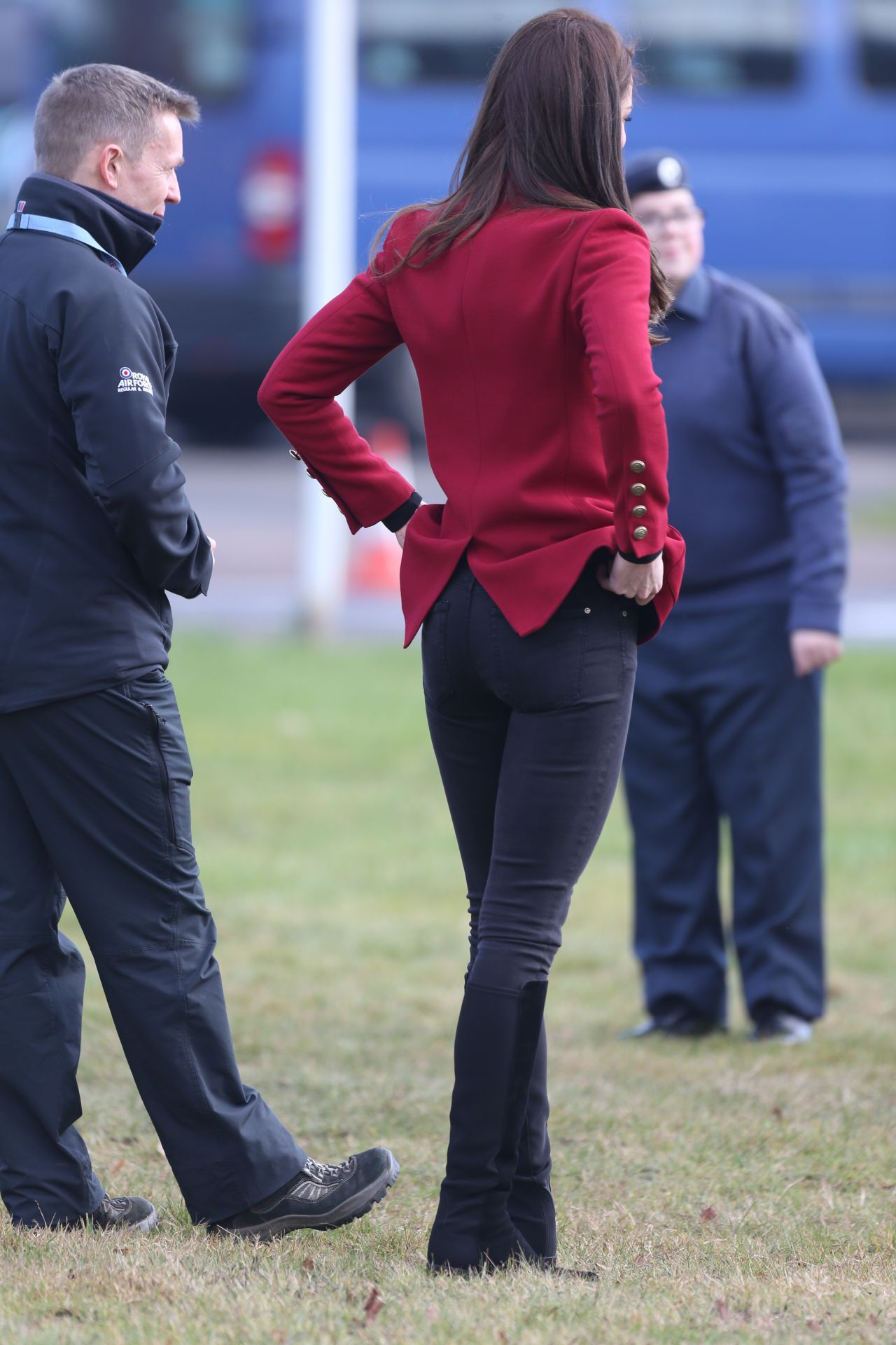 Kate Middleton In Tights Visits Raf Cadets In Stamford 2