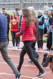 Kate Middleton - London Marathon Training Day in London, February 2017